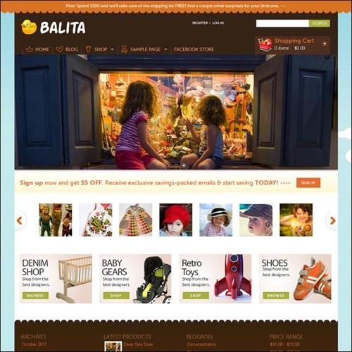 balita-wordpress-ecommerce-theme