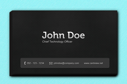 black-business-card