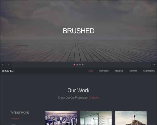 brushed-template