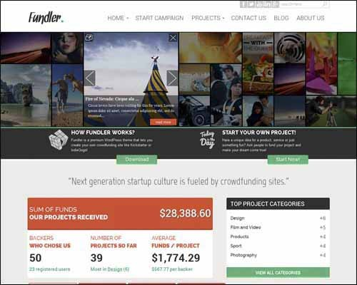 fundler-free-crowdfunding-wordpress-theme