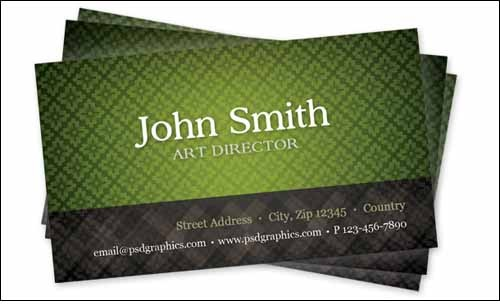 green-business-card-template-with-seamless-pattern-1