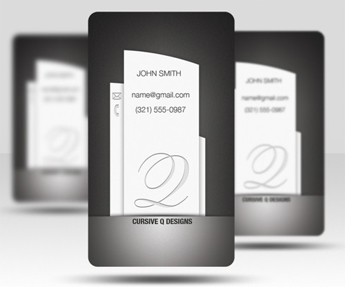 grey-business-card