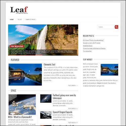 leaf-wordpress-free-theme