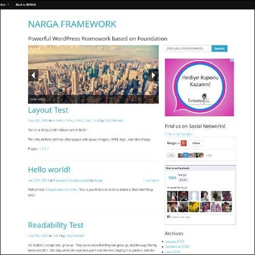 narga.framework.free.wordpress.theme