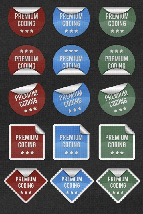 realistic-stickers-full-set