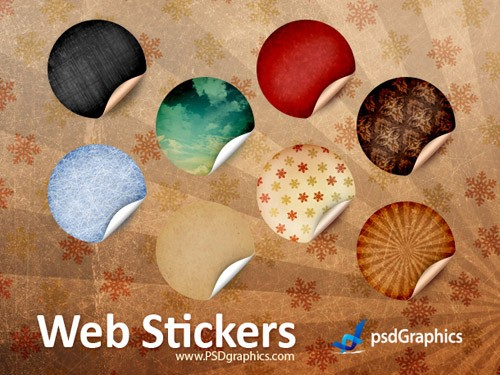 round-retro-stickers