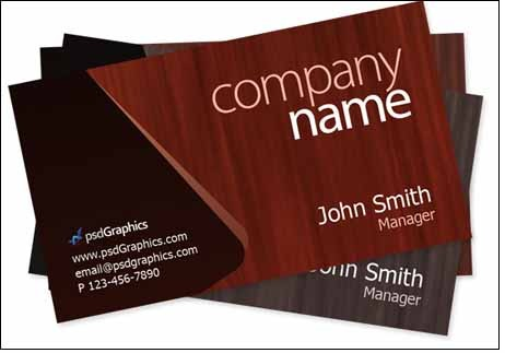 wooden-theme-business-card-template